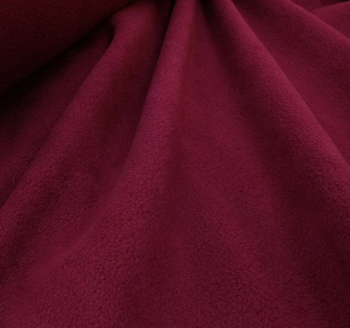 Polar fleece Beet Red