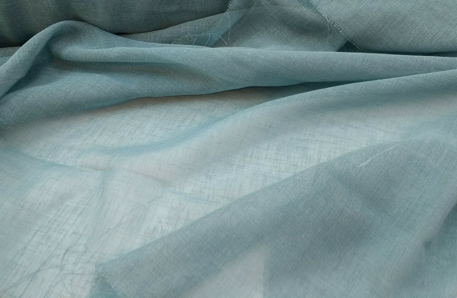 Etna light turquoise curtain fabric