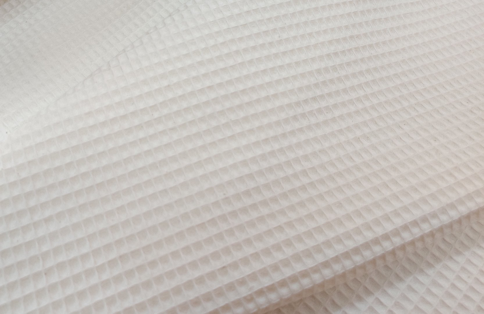 Spa waffle fabric in off-white