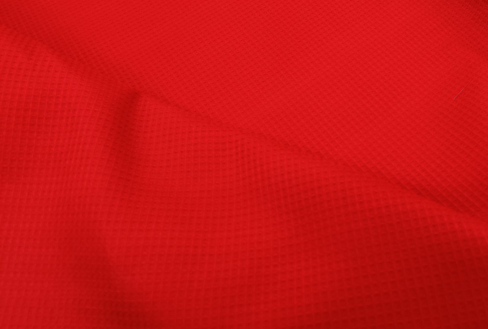 Waffle fabric red