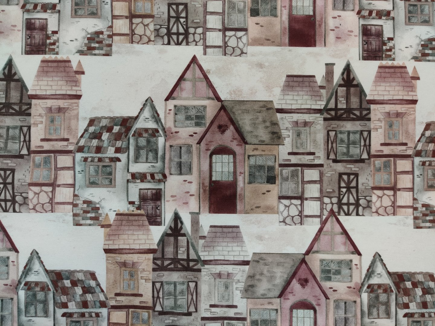 Old Houses- curtain fabric