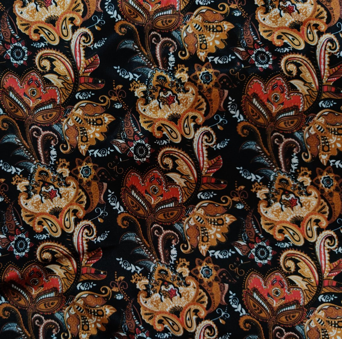 Elastic satin paisley color 69